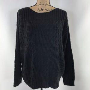 Jones New York sport black chunky sweater XL